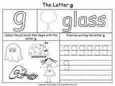 letter g worksheet for kindergarten 23487 letters of the alphabet teaching pack 24 powerpoint presentations and 26 worksheets by