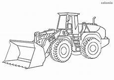 dibujo de tractor pala para colorear en 2020 coche de