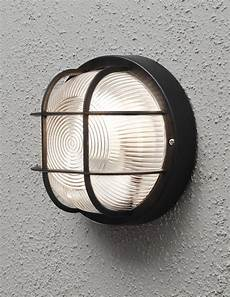 konstsmide mantova 1 light outdoor wall light black finish with clear glass diffuser 7651 750