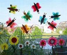 Basteln Mit Kindern Sommer Fenster - schmetterlinge aus transparentpapier f 252 rs fenster tiere