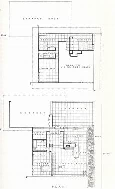 usonian style house plans usonian housing project 1957 usonian vintage house