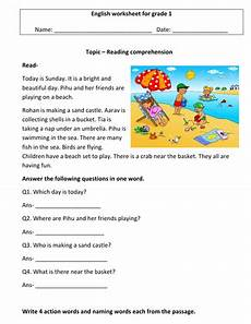 comprehension worksheets for grade 1 3 worksheets