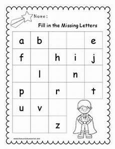 fill in the missing letters worksheet for pre k 1st grade lesson planet