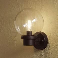 konstsmide nemi globe outdoor wall light with dusk to dawn sensor lighting direct