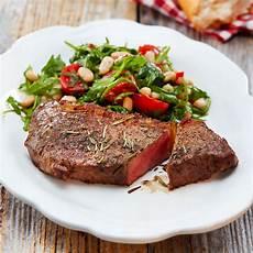 beef steak mit scharfem bohnensalat rezept kaufland