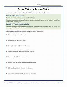 change from active to passive voice worksheet active voice to passive voice subject predicate worksheets