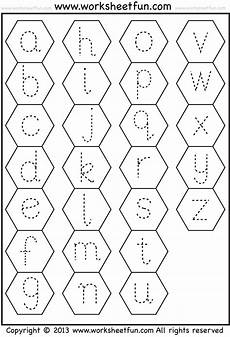 small letter tracing lowercase worksheet hexagon free printable worksheets worksheetfun