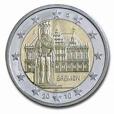 Germany 2 Coin 2010 Bremen City And Roland