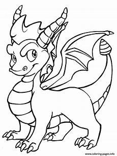 Ausmalbilder Coole Drachen Spyro Cool Coloring Pages Printable