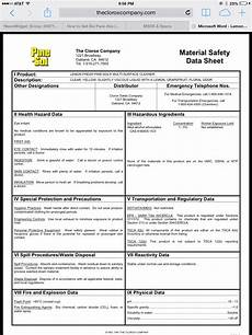 material safety data sheet msds construction clean partners