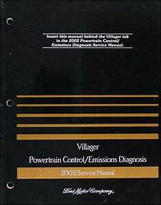 vehicle repair manual 1997 mercury villager engine control 2002 mercury villager engine emissions diagnosis service manual mini van ebay