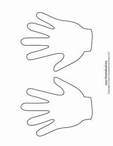 Handprint Templates Tim S Printables