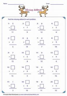 addition worksheets with missing addends 9643 single digit addition worksheets