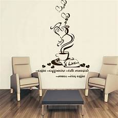 wandtattoos kuche wandtattoo kaffee tasse coffee k 252 che kitchen herz