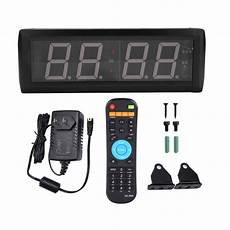 Remote Oversize Wall Clock Screen by 2 3 Remote Digital Led Wall Clock Multifunction