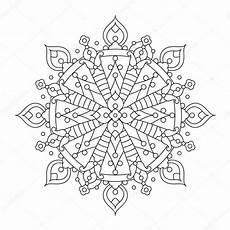 Ausmalbild Schneeflocken Mandala Mandala Oder Skurrilen Schneeflocke Line Kunst Design