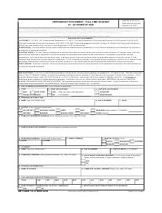 dd form 137 5 download fillable pdf dependency statement incapacitated child over ag