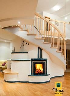 Kachelofen Speicherofen Und Treppe Modern