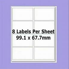 blank self adhesive labels 8 per a4 sheet l7165 compatible 99 1mm 67 7mm ebay