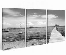 Keilrahmen Bilder Schwarz Weiß - leinwand 3 tlg schwarz wei 223 steg br 252 cke see ostsee meer