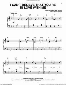 mchugh i can t believe that you re in love with me sheet music for piano solo