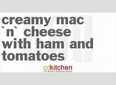 creamy mac  n cheese with ham and tomatoes_image