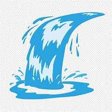 Air Terjun Biru Mengalir Unsur Unsur Vektor Air Gambar