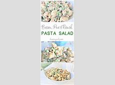 Creamy Bacon Pea and Ranch Pasta Salad ? Quick and Easy