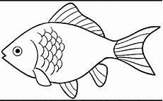 Gambar Ikan Hitam Putih Kartun Gambar Ikan Hd