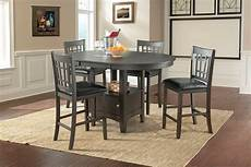 Max Grey Pub Table With Four Chairs The Furniture Mart
