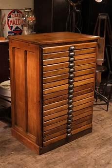 meuble de m 233 tier d imprimerie ancien en bois massif