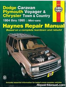 car owners manuals free downloads 1993 chrysler town country instrument cluster haynes dodge caravan plymouth voyager chrysler town country mini vans 1984 1995 auto repair manual