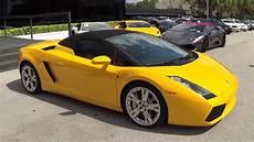 Yellow Lamborghini Gallardo Spyder Convertible Walk Around