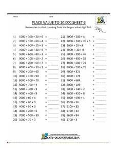 math place value worksheets 3rd grade 5531 math worksheets place value 3rd grade