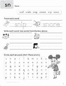 consonant blends sn write n seek practice page printable word searches lesson plans and ideas