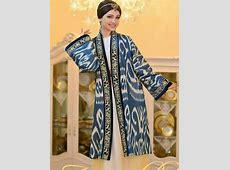 Uzbek ikat. Silk. Handmade. Uzbek traditional clothing