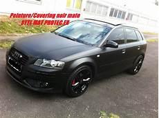 Audi A3 Sportback Covering Noir Mate Et Noir Brillant