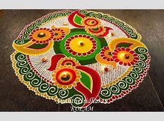 Free Hand Rangoli Design Ideas For Diwali