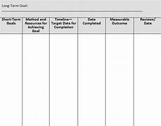 sle goal setting worksheet life plan template goals template how to plan