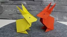 hase aus origami papier falten diy osterdeko basteln