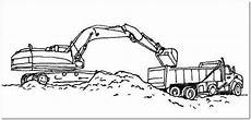 excavator coloring page truck coloring pages