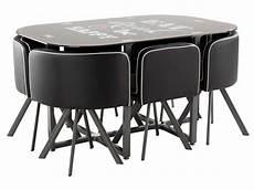 ensemble table 6 chaises kooc coloris noir vente de