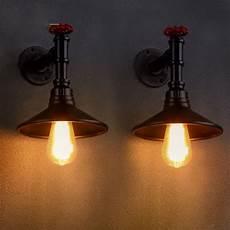 modern loft metal vintage industrial rustic sconce wall light l single double moonlight retail