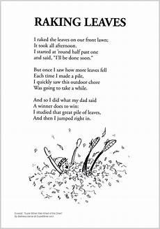 poem worksheets for grade 7 25434 raking leaves shared reading poems poems