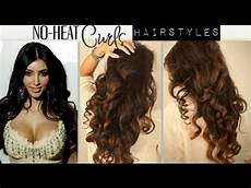 No Heat Hairstyles For Curly Hair