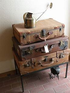 Suitcases And Antique Watering Can Suit Ideas