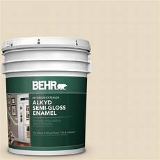 behr 5 gal ae 260 navajo white gloss enamel alkyd interior exterior paint 390005 the