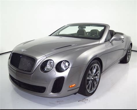 2012 Bentley Continental Gt 2dr Convertible Supersports