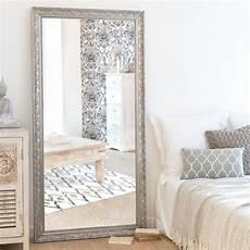 miroir en paulownia argent 233 90x180 maisons du monde