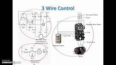 ladder diagram basics 3 2 wire 3 wire motor control circuit youtube